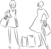 Femmes d'achats Illustration Stock