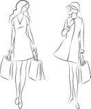 Femmes d'achats Illustration Libre de Droits