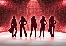 Femmes d'affaires avec des numéros Images stock