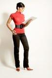 Femmes d'affaires avec la planchette Photographie stock