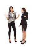 Femmes d'affaires ayant un argument images libres de droits