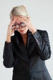 Femmes d'affaires chargées Photos libres de droits