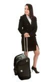 Femmes d'affaires gaies avec le sac de course Image stock