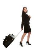Femmes d'affaires gaies avec le sac de course Photographie stock libre de droits