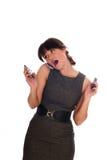 Femmes d'affaires parlant avec le téléphone Photo stock