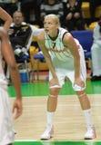 femmes d'euroleague de basket-ball Images libres de droits