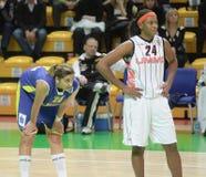 femmes d'euroleague de basket-ball Image libre de droits