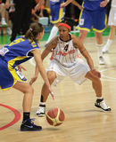 femmes d'euroleague de basket-ball Photos stock