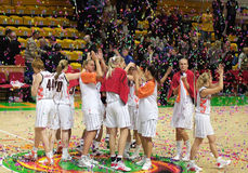femmes d'euroleague de basket-ball Photos stock