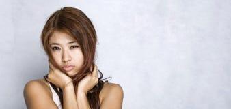 femmes d'expression jeunes Photographie stock libre de droits