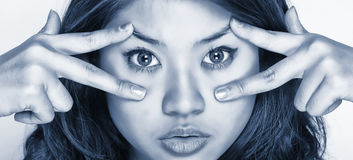 femmes d'expression jeunes Images libres de droits