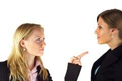 Femmes dans la confrontation Photo stock
