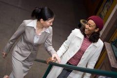Femmes dans la ville Images libres de droits