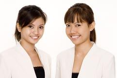 Femmes dans le blanc 1 Photographie stock libre de droits