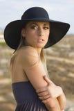 Femmes dans le chapeau Image stock