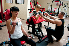 Femmes dans le club de forme physique Photo stock