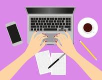 Femmes dans le lieu de travail Illustration Stock