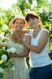 Femmes dans le plan de Roseum Photographie stock libre de droits