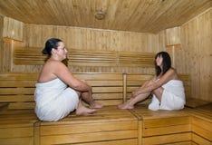 Femmes dans le sauna Photographie stock libre de droits