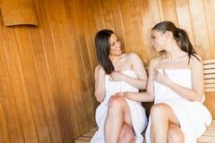 Femmes dans le sauna Image stock