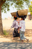 Femmes dans Myanmar Image stock