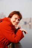 Femmes dans orange2 Photos libres de droits