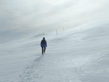 Femmes dans une tempête d'hiver Images libres de droits