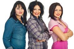 Femmes de beauté avec la coiffure et le renivellement Photo libre de droits