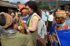 Femmes de Bonda au marché Image libre de droits