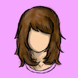 Femmes de caractère de cheveux de Brown Illustration Libre de Droits