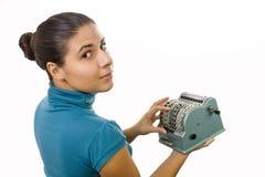 femmes de comptable jeunes Photos stock