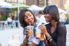 Femmes de couleur à New York Photo stock