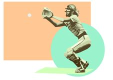 femmes de gant de baseball de base-ball Photographie stock libre de droits