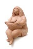 Femmes de graisse d'argile Images libres de droits
