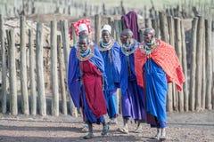 Femmes de masai en Tanzanie Image libre de droits
