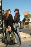 Femmes de mode de ville Photographie stock libre de droits
