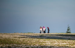 Femmes de musulmans sur la plage Images libres de droits