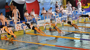 femmes de nageurs de plongée Photos stock