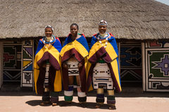 Femmes de Ndebele Photographie stock