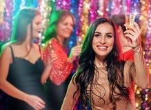 Femmes de partie avec le champagne Photo libre de droits