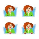 Femmes de sentiments et d'émotions illustration libre de droits
