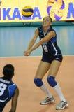 femmes de volleyball de l'Italie s de fivb de championnat Photos stock