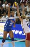 femmes de volleyball de l'Italie s de fivb de championnat Photographie stock libre de droits