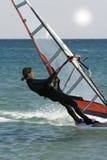 femmes de windsurfer Photo stock