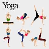 Femmes de yoga Photographie stock libre de droits