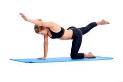 Femmes de yoga d'isolement image stock