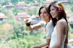 Femmes des vacances image stock
