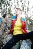 Femmes en bois  Photo stock