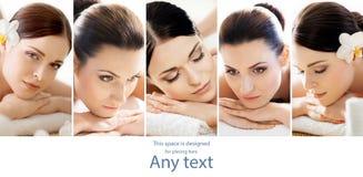 Femmes en bonne santé obtenant le traitement de station thermale dans un salon de massage Photos libres de droits