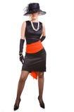 Femmes en noir et rouge Images stock